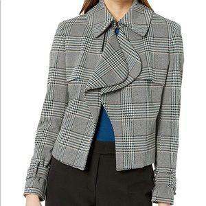 ♥️ NWT! Anne Klein Houndstooth Trench Jacket
